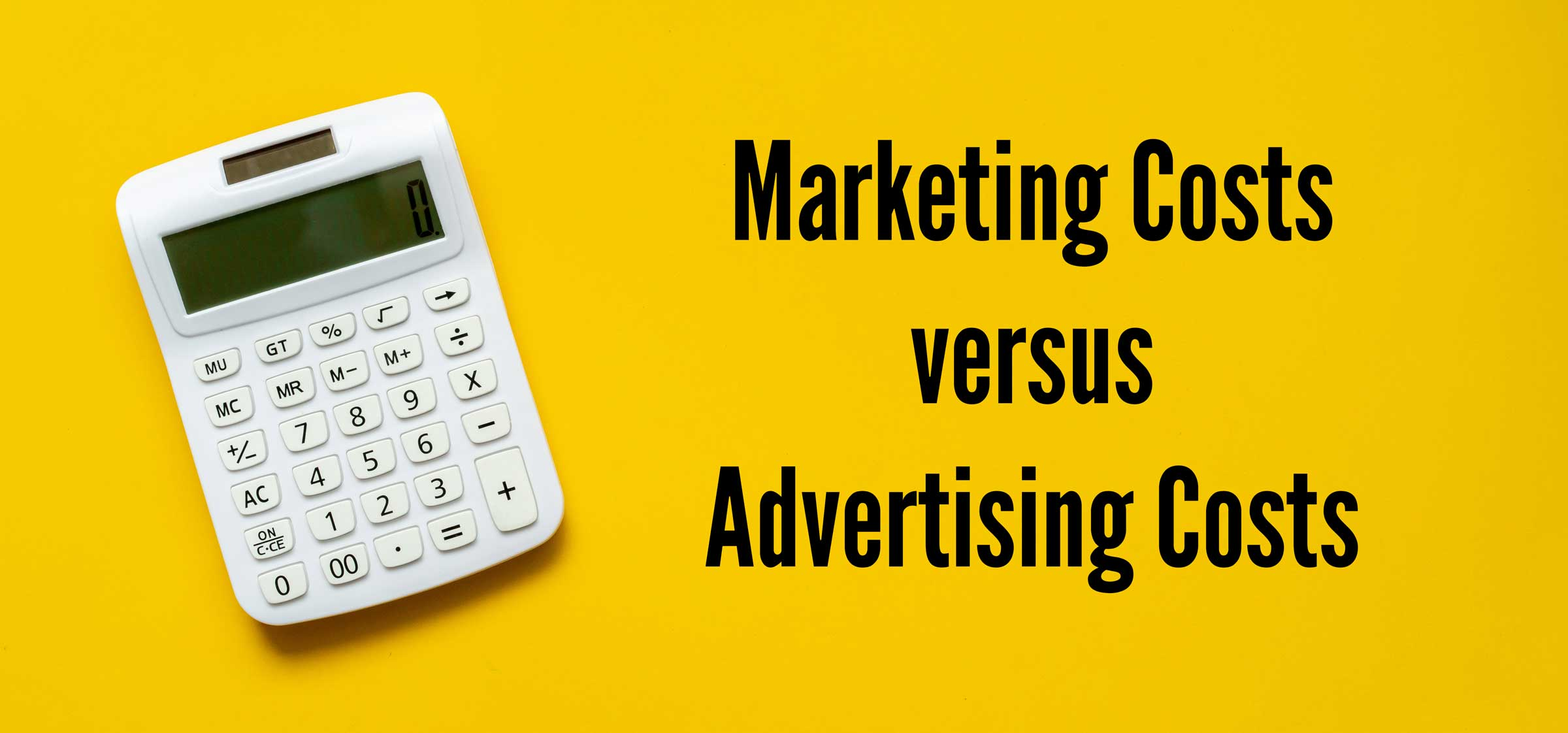 Marketing Costs vs Advertising Costs